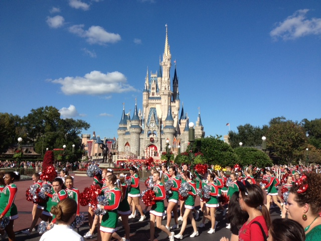 this was the last major performance for the filming before the actual parade started as the crew got ready to set up for parade filming an unknown voice - Disney Christmas Day Parade